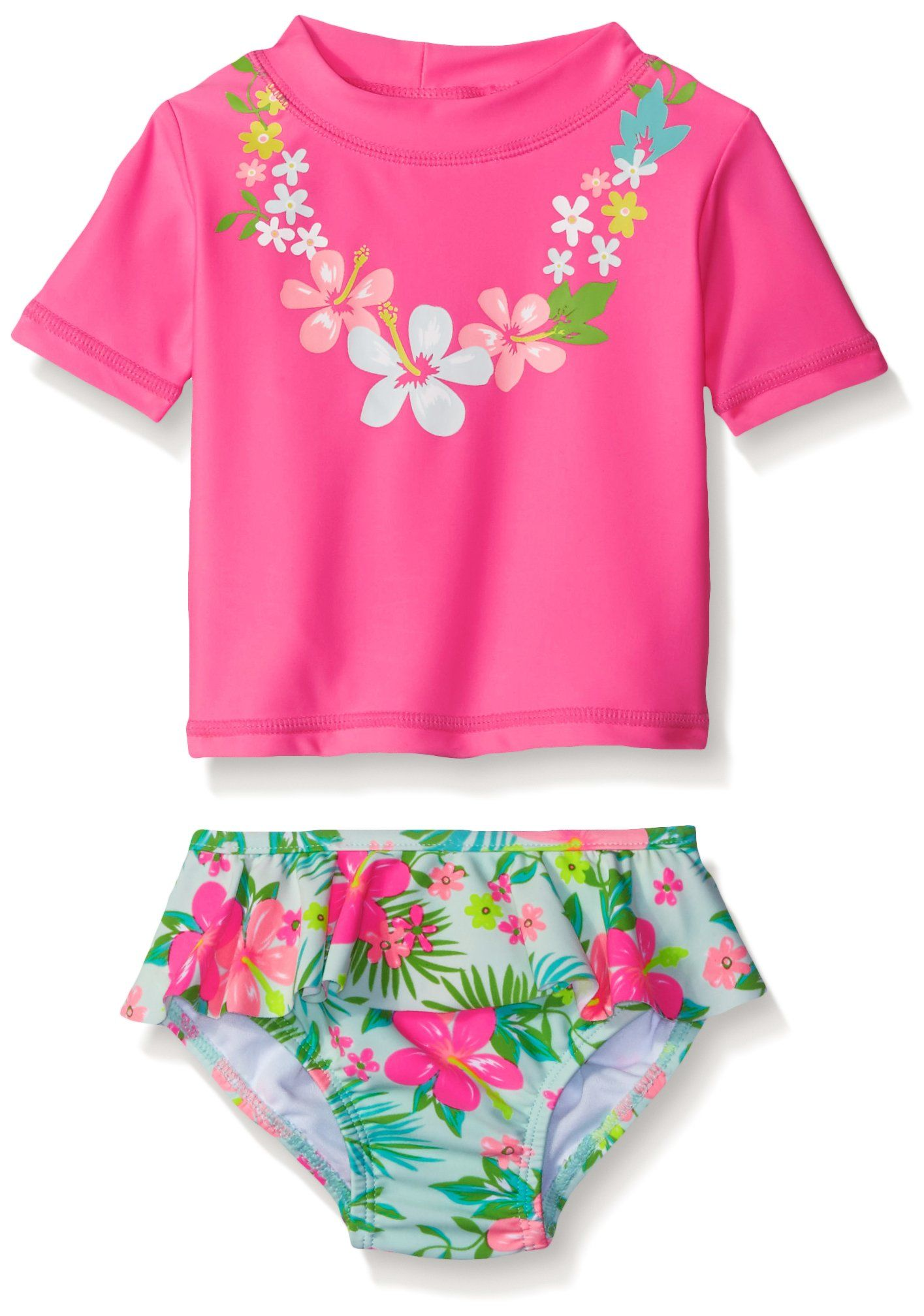 Carter S Baby Girls Short Sleeve Rash Guard Set With Ruffle Skirted Bottom Details Can Be Found By Girls Rash Guard Set Carters Baby Girl Baby Girl Shorts