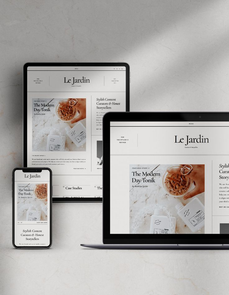 A Stylish and Sophisticated Showit Website Template Design