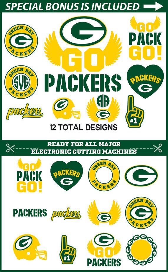 Green Bay Packers Logo Vector : green, packers, vector, Cricut