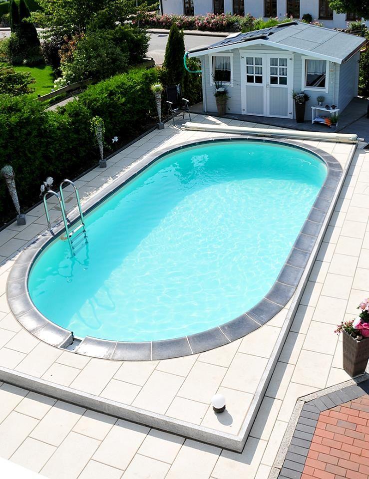 step-by-step den eigenen ovalpool aufbauen #pool #ovalpool #diy,