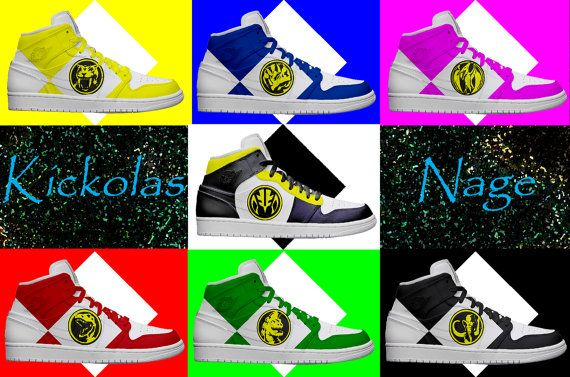 Men's Light Up Power Ranger Shoes by KickolasNage on Etsy