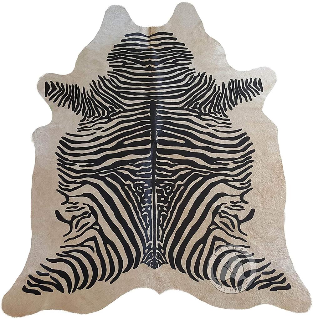 Amazon Com Sunshine Cowhides Zebra Cowhide Rug Animal Print Black Stripes On Beige Kitchen Dining In 2020 Zebra Cowhide Rug Zebra Cowhide Beige Cowhide Rug