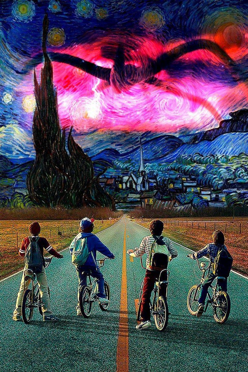 Excelentes Releituras De A Noite Estrelada De Van Gogh Posteres