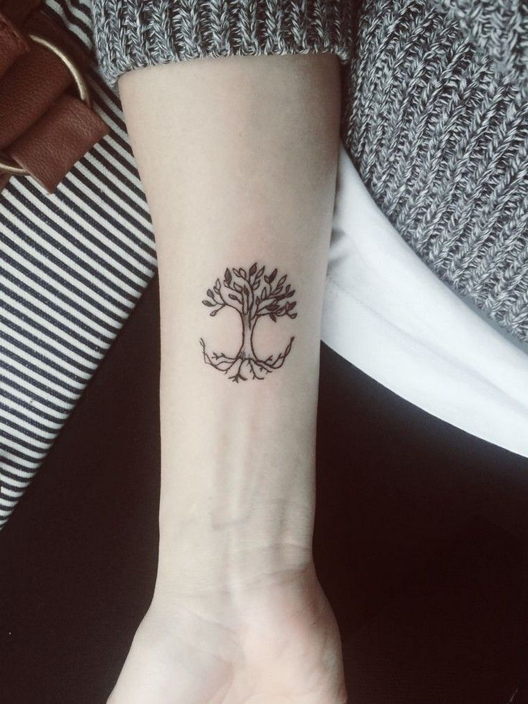 petit tatouage arbre palmier tatouage Tree tattoo small