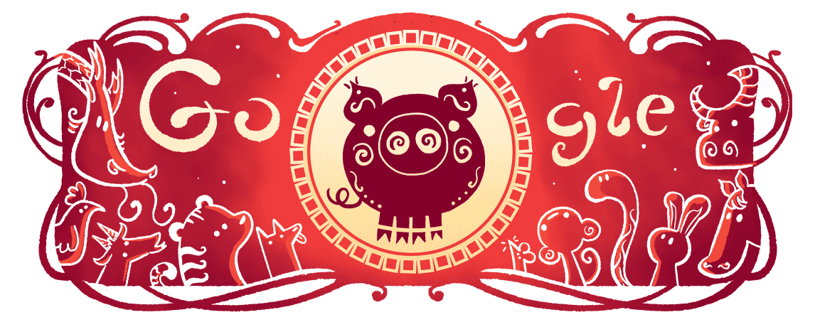 Lunar New Year How to play the Google Doodle shadow