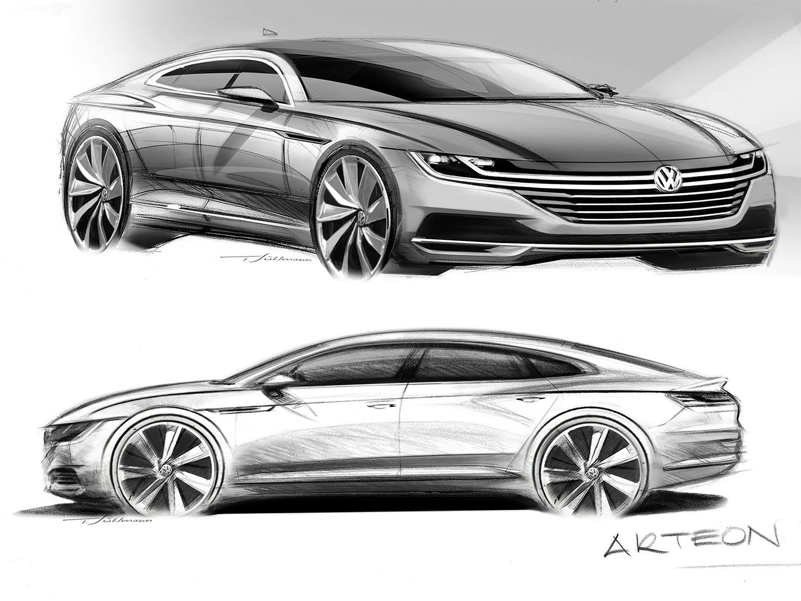 Volkswagen Arteon: design gallery   Car design sketch ...