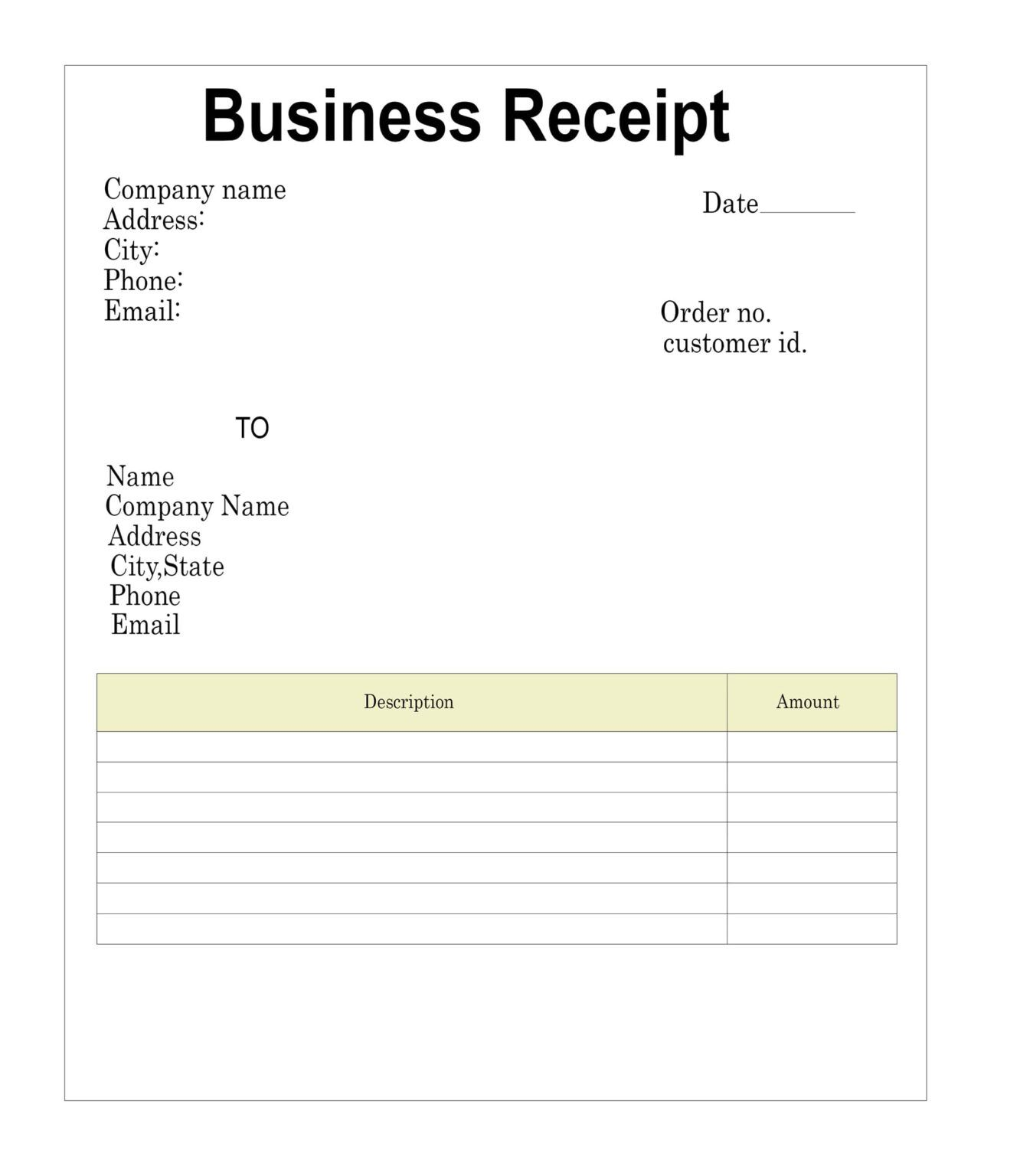 The Receipt Template In Blank Taxi Receipt Template Receipt Template Invoice Template Business Template