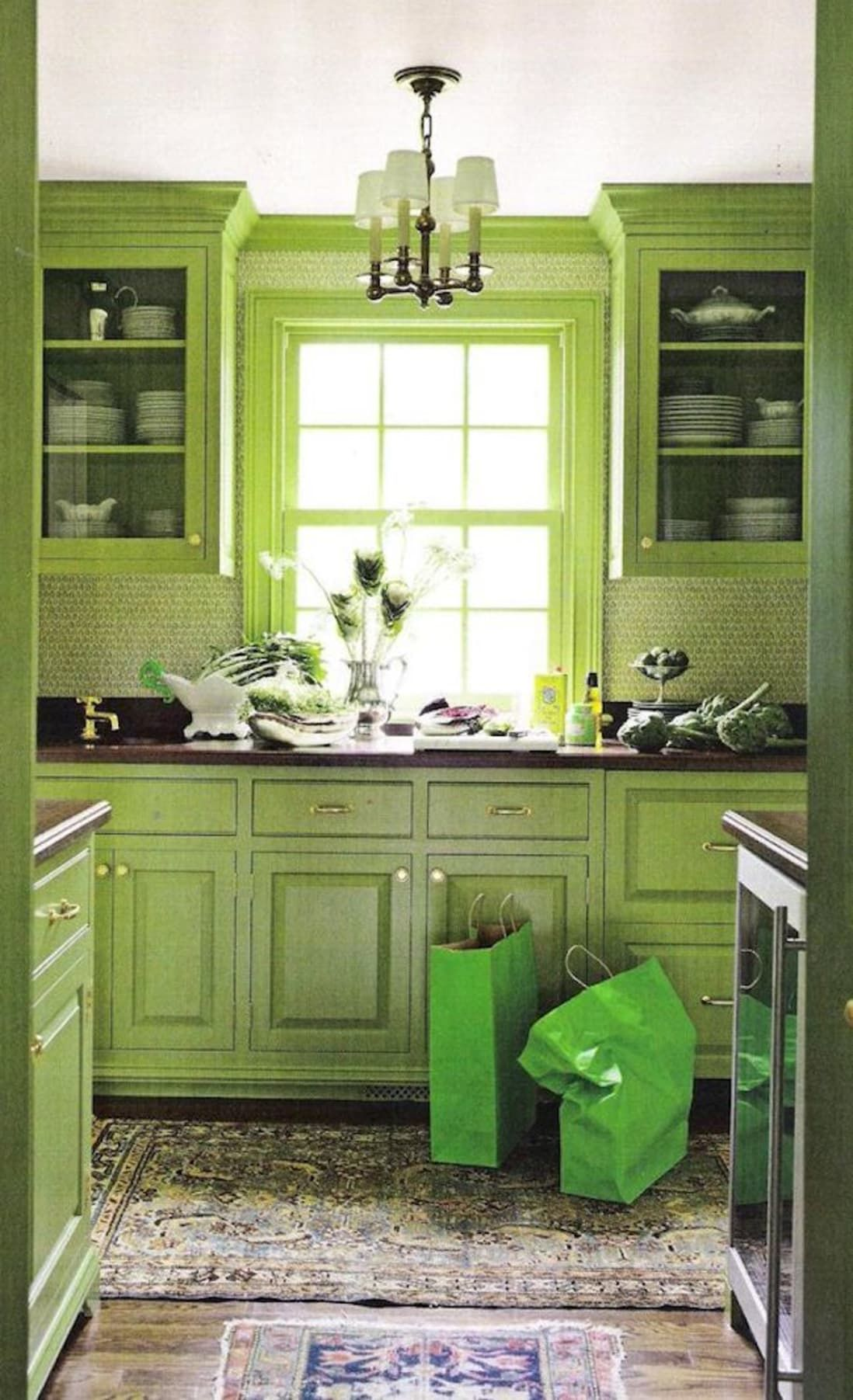 Inside Out Appeal For A 1949 Bungalow Kitchen Cabinets Color Combination Green Kitchen Decor Kitchen Interior