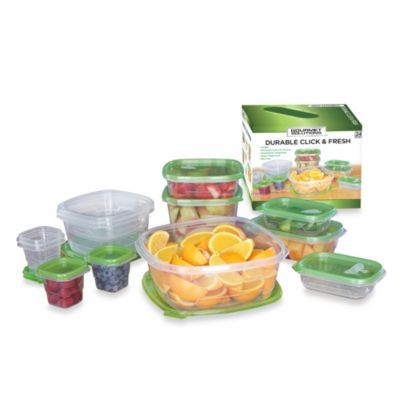 Buy Click Fresh 24 Piece Assorted Food Storage Containers From Bed Bath Beyond Food Canisters Food Storage Containers Food