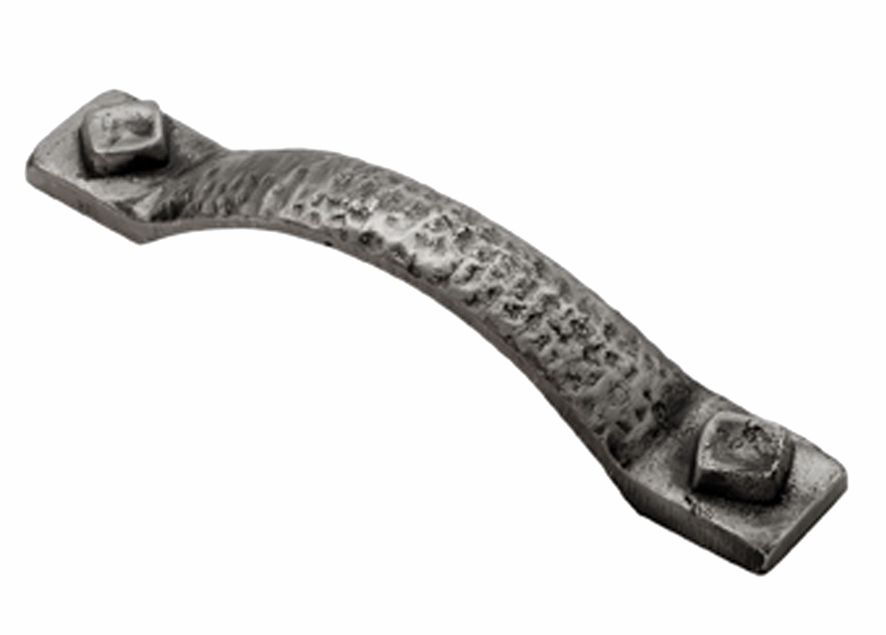 Dimpled Cabinet Pull Handle 128mm C C Pewter Carlisle Brass