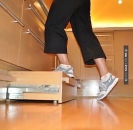 So Good Toe Pull Built In Kitchen Step Stool Check