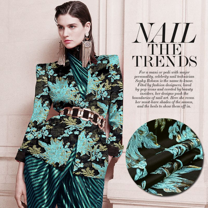Find More Information About Loewe Outline Exclusive French Designer Dyed Jacquard Brocade Fabric Fashion Perspective Shiny Fashion Fabric Shiny Fabric Fashion