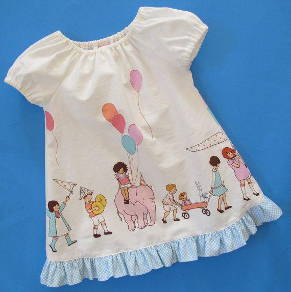 Baby Dress Pattern - Beginner Sewing Pattern - Easy Baby Peasant ...
