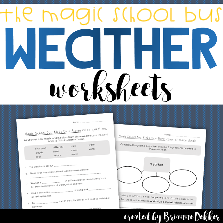 Free Bill Nye Wind Worksheet Video Guide School Plants ...
