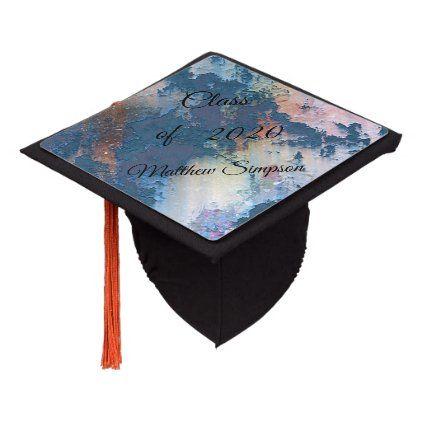 Photo of Cute,Colorful,Texture,Structure,,Wallpaper Graduation Cap Topper | Zazzle.com