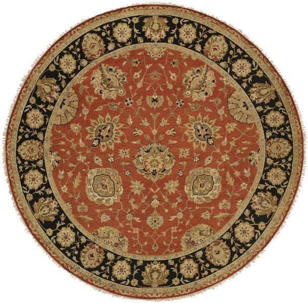 Forbesganj Hand-Knotted Rust/Black Area Rug
