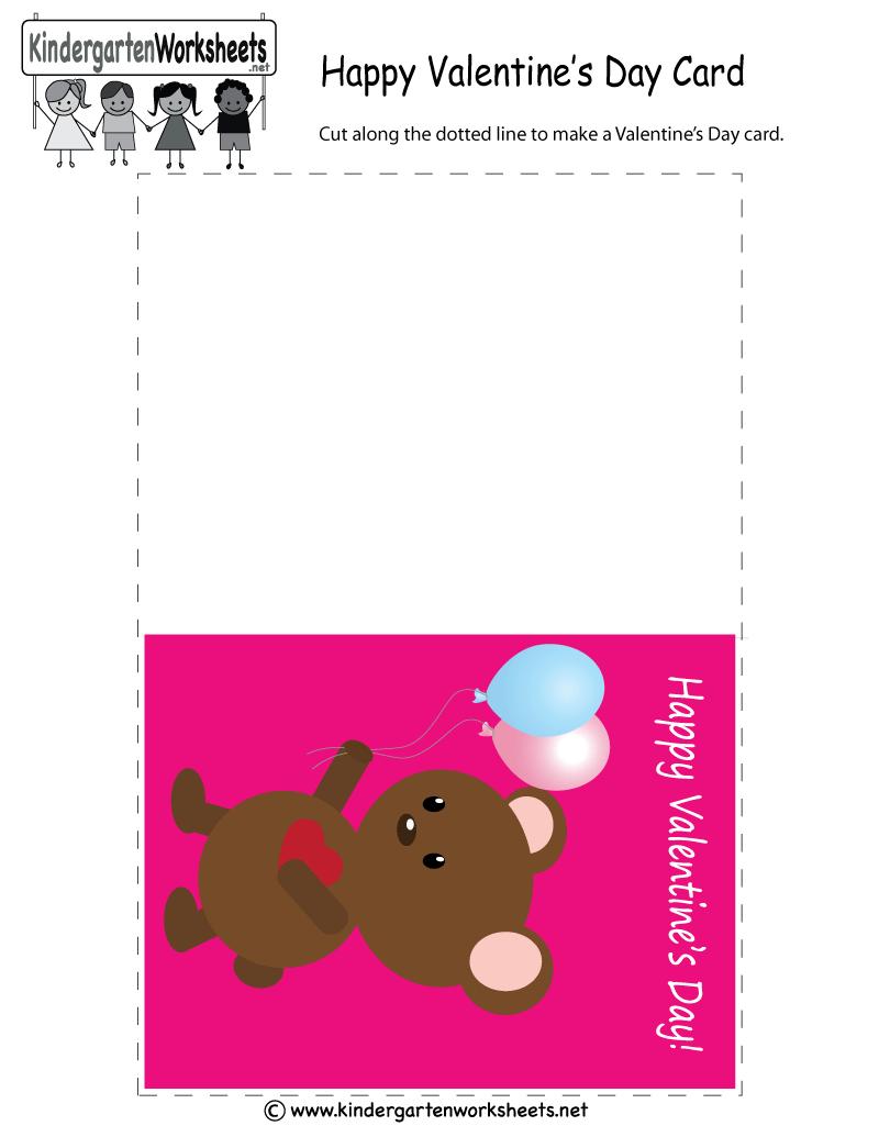 Kindergarten Valentines Day Greeting Card Printable Valentines