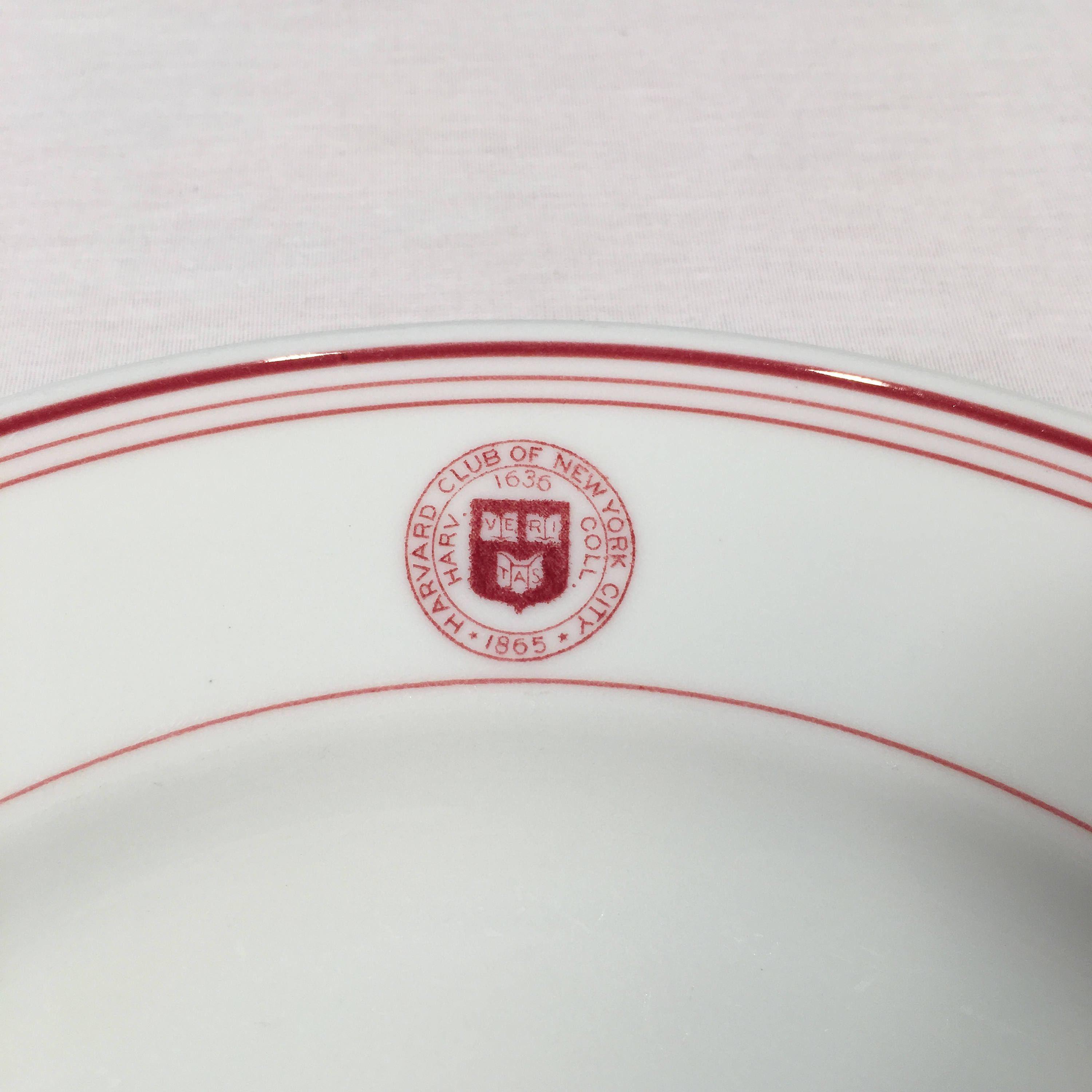 Harvard Club of New York City 9 Dinner Plate by O. date st& June 1941 by LighthouseAntiquesTX on Etsy  sc 1 st  Pinterest & Harvard Club of New York City 9 3/4