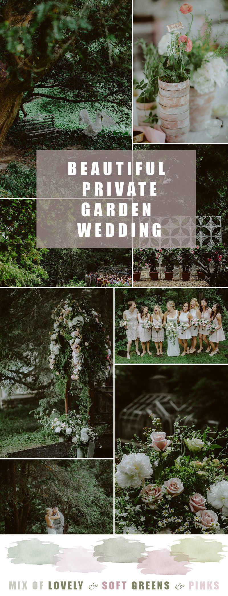 Beautiful private garden wedding garden wedding inspiration pastel
