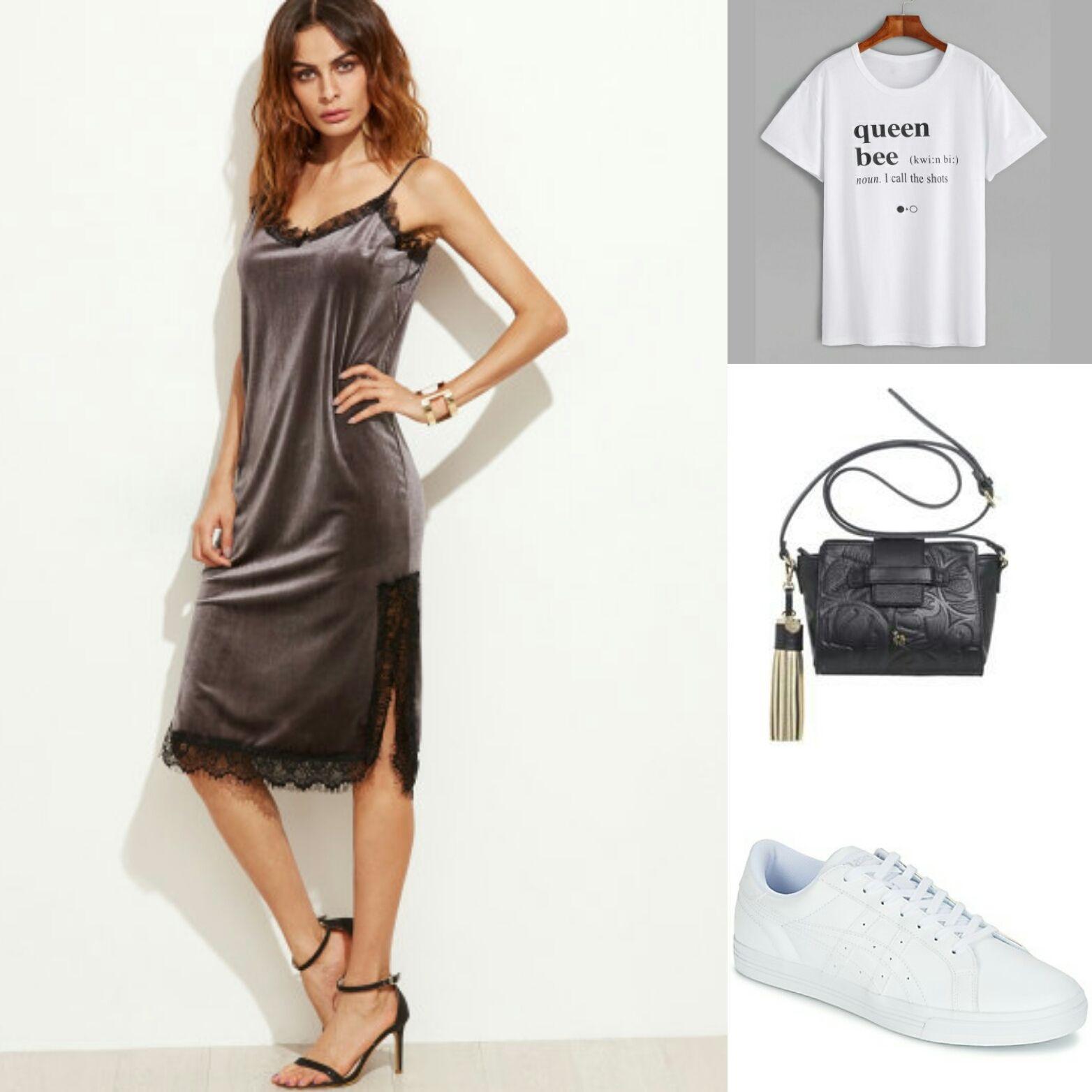 Shopping: Vestido con camiseta. - Temporada: Otoño-Invierno - Tags: look, trends, fashion, moda, stardivarius - Descripción: El vestido con camiseta está de moda.
