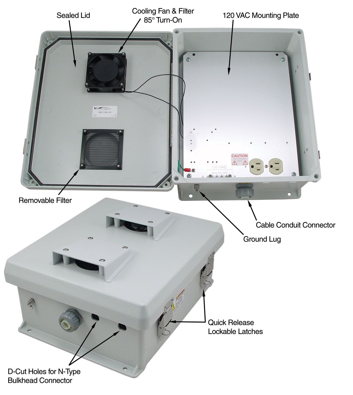 This Weatherproof Enclosure Has A Thermostat Controlled System That Keeps Equipment Cool Ethernet Cable Data Cable Wireless
