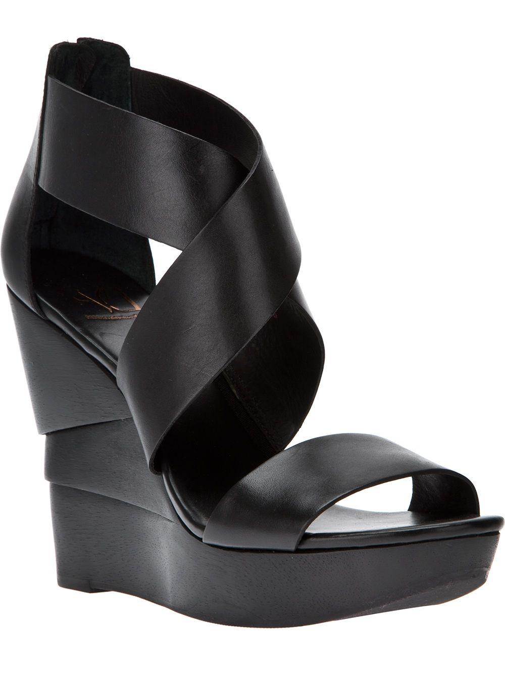 Diane Von Furstenberg Sculpted Wedge Sandal
