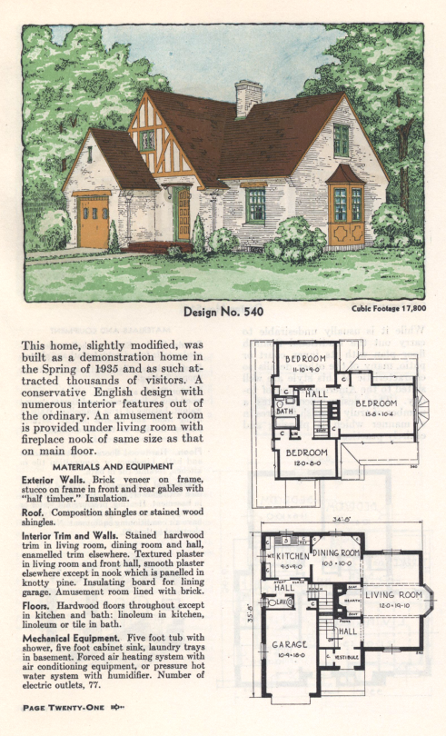American Homes Architecture From 1930 To 1965 Vintage House Plans House Plan Gallery Cottage Floor Plans