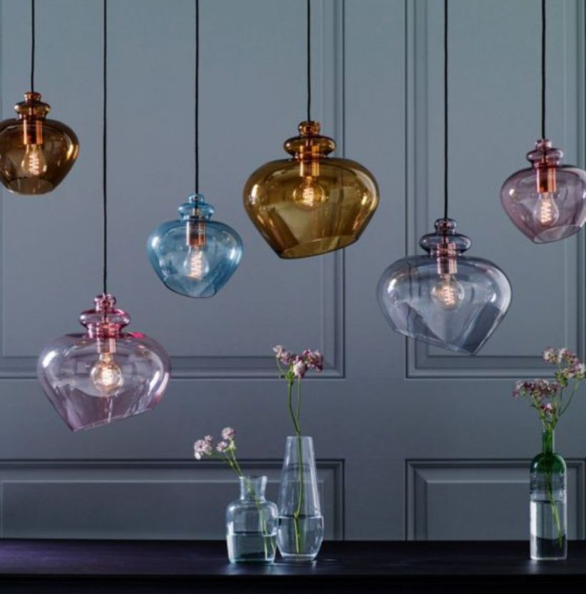44 Fascinating Colorful Glass Pendant Lamps Ideas For Your Kitchen