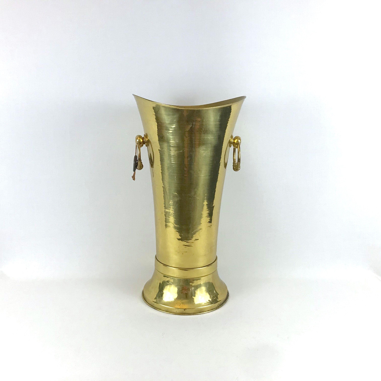 Vintage Solid Brass Umbrella Stand Stand Umbrella In 2020 Umbrella Stand Solid Brass Vintage