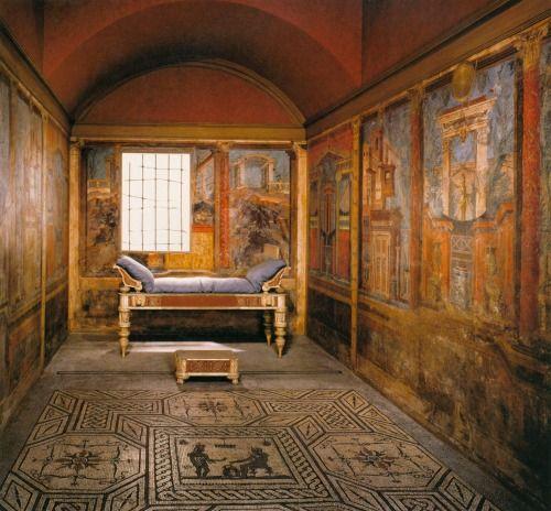 bedroom of ancient Roman Villa of Publius Fannius Synistor