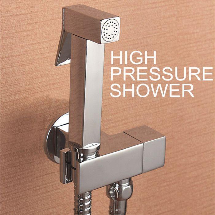 100 Brass Hand Held Bidet Shower Faucet Free Perforating Toilet Jet Cleaner Portable Bidet High Pressure Shower Head High Pressure Shower Head Shower Set Bidet