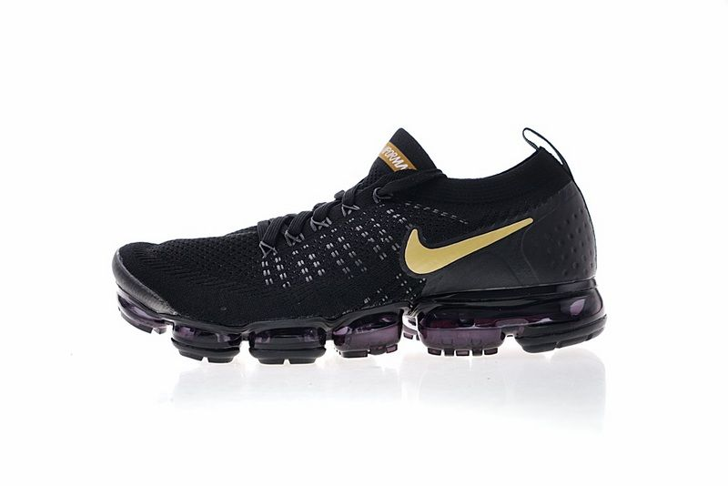 81ab7ad968 ... Shoes Sale Store. Cheap Mens Nike Air VaporMax Flyknit 2.0 W Black Gold
