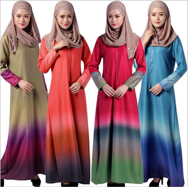 Gunstige Regenbogen Farben Muslimische Frauen Kaftan Islamische