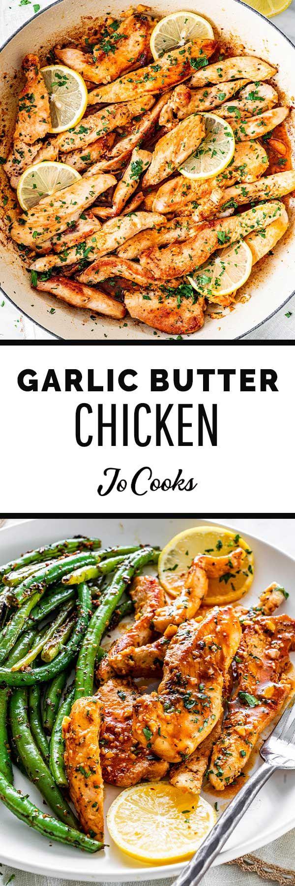 Garlic Butter Chicken #onepandinnerschicken