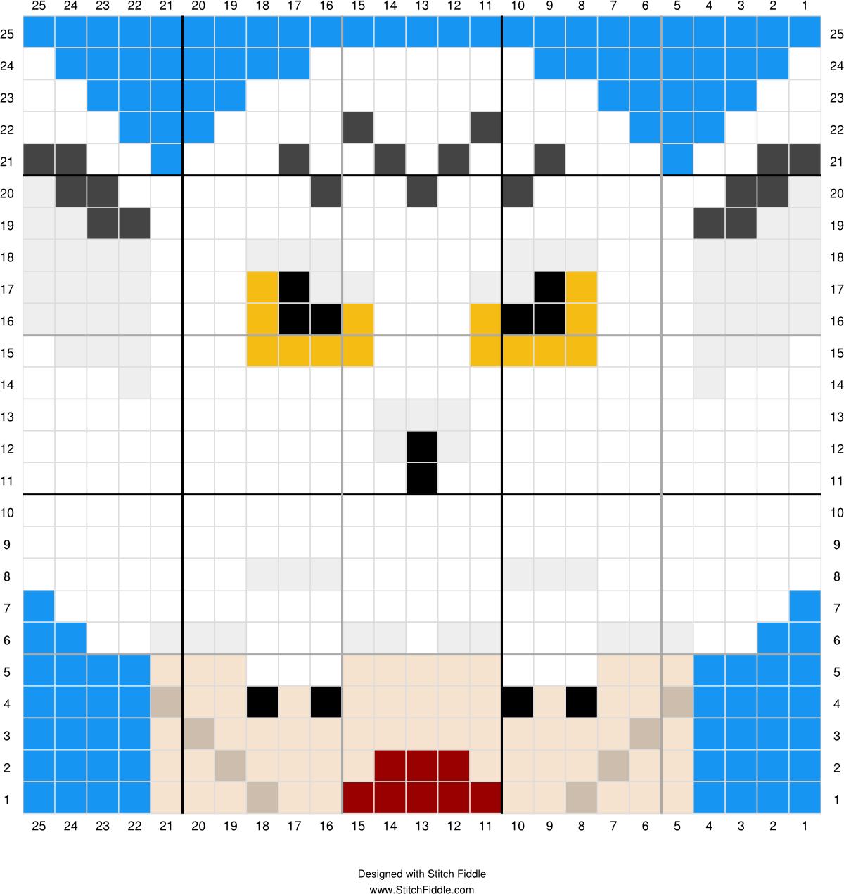 Hedwig 2 | Designed by PixiTrix (Kimberly Allard) | Stitch Fiddle ...