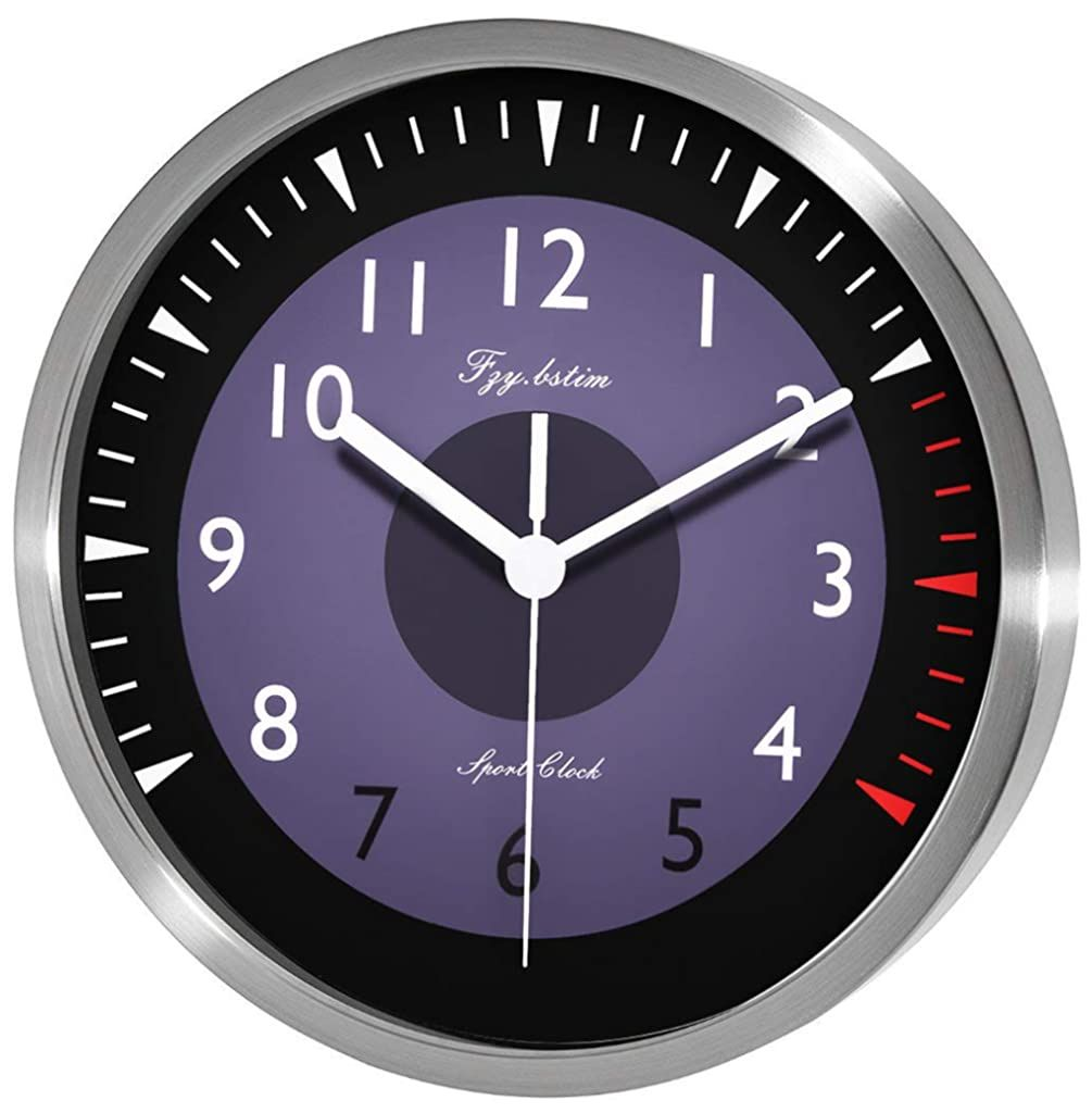 Fzy Bstim Silent Wall Clock Decorative Analog Stainless Steel Wall Clock Battery Operated Continue To The Product At The Image In 2020 Clock Wall Clock Steel Wall