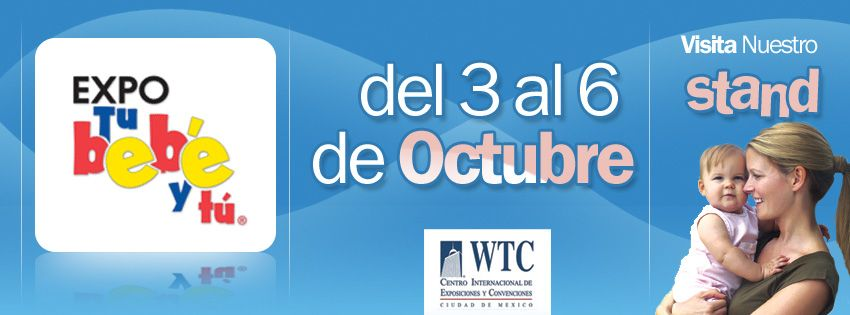 Ya viene la expo del 3 al 6 de octubre en el WTC. No dejen de visitar nuestro stand, ¡Habrá grandes sorpresas!