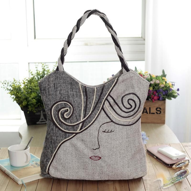 Top Whole Liques Lady Cute Handbags Cloth Carry Bag New Nation Style Party Art Type Bags