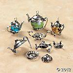 tea party charms $4.00 per 6 pieces
