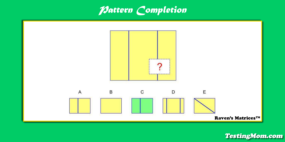 Can Your Child Solve This Pattern Completion Practice Question For Ravensmatrices Gifted Program Online Learning Learning