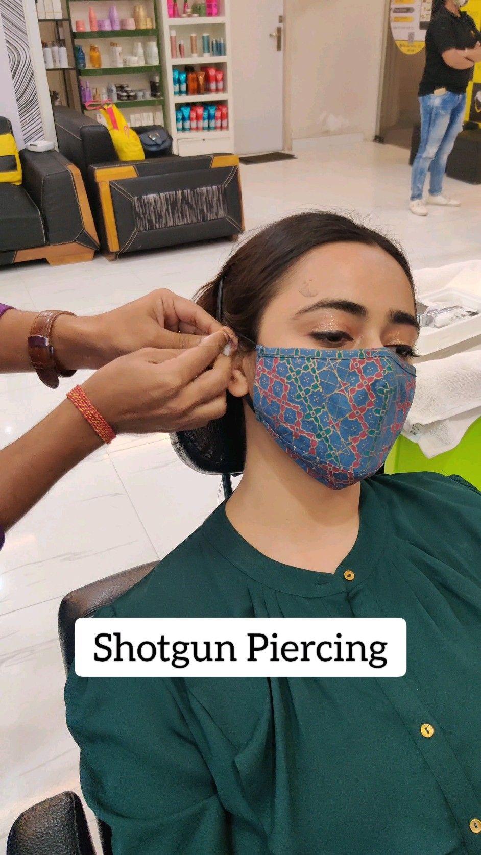 How shotgun piercing is done