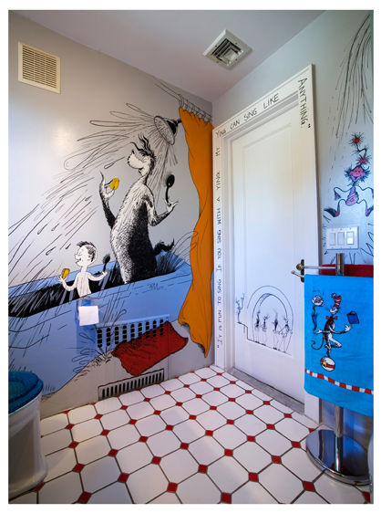 The Ultimate Bathroom For Fans Of Dr Seuss! We Love The Way The Radiator Has