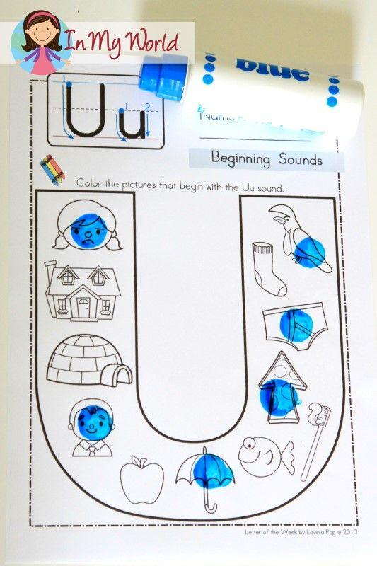 Preschool Letter U | Preschool letters, Beginning sounds ...