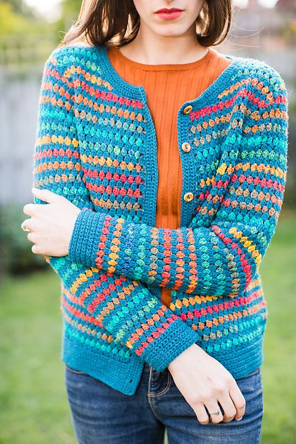 Jessica Vintage Cluster Cardigan pattern by Catherine Waterfield ...
