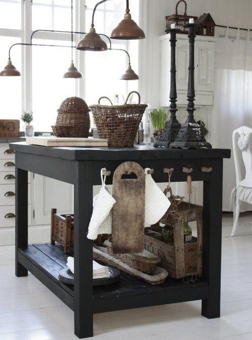 Top e piani in legno : Isola cucina piano di lavoro vintage ...