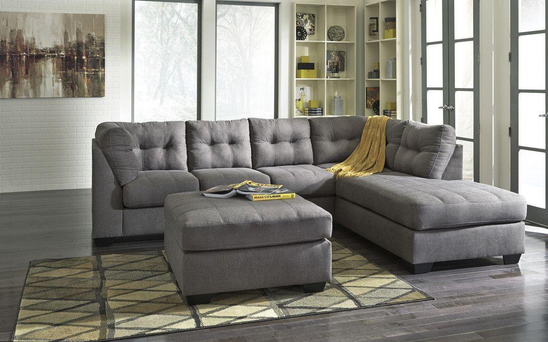 Ashley 452 Sectional W Ottoman Ashley Furniture Sectional