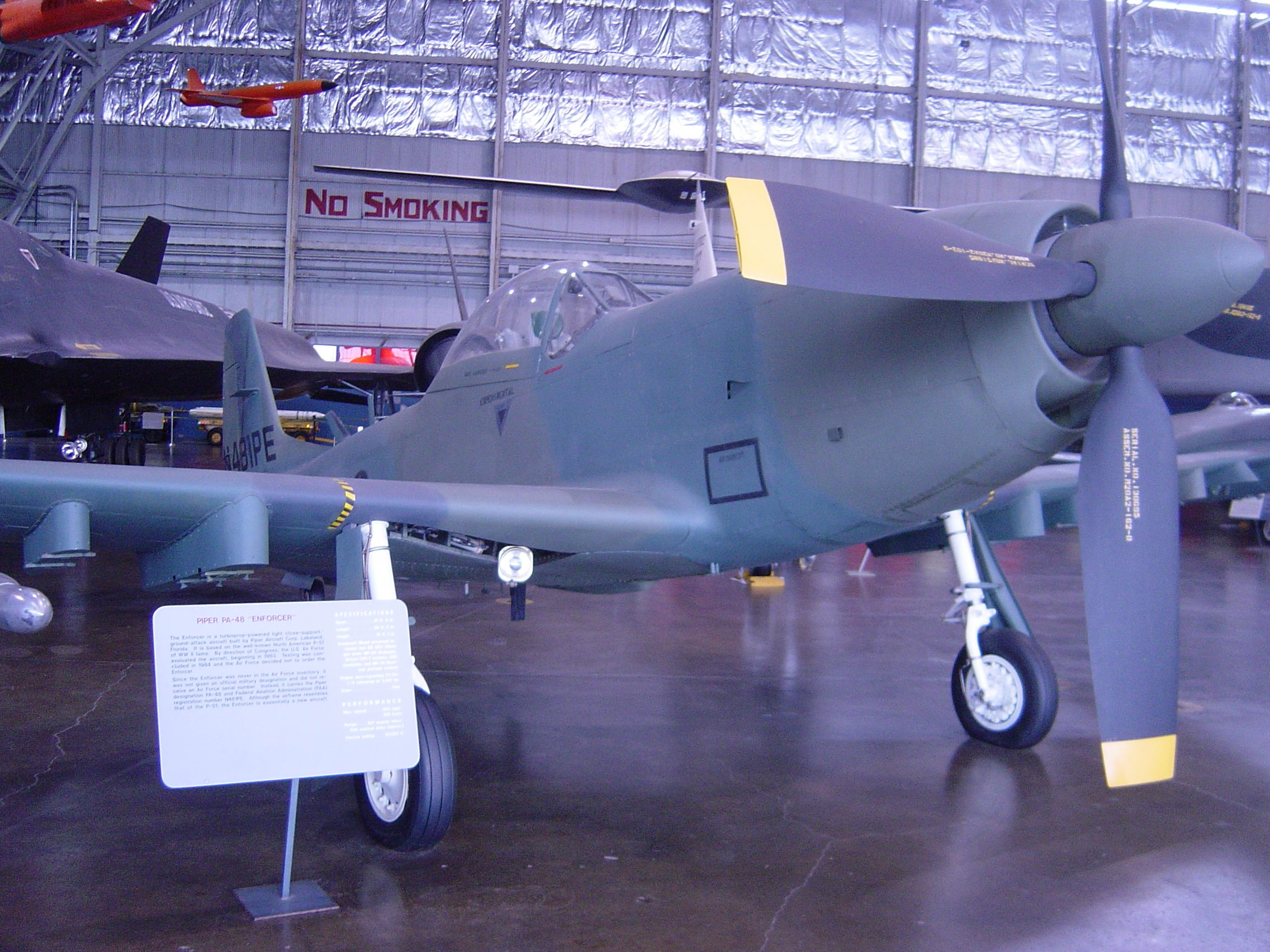 A Piper PA48 Enforcer fighter, built in Lakeland, Florida