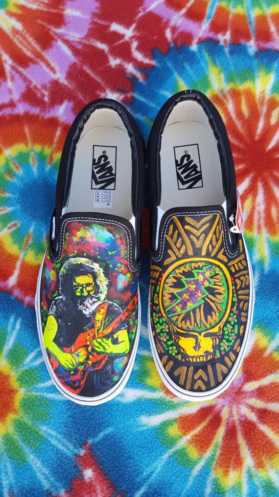 094b34d0342389 Grateful Dead Jerry Garcia Steal Your Face Custom Vans by krazykicks ...