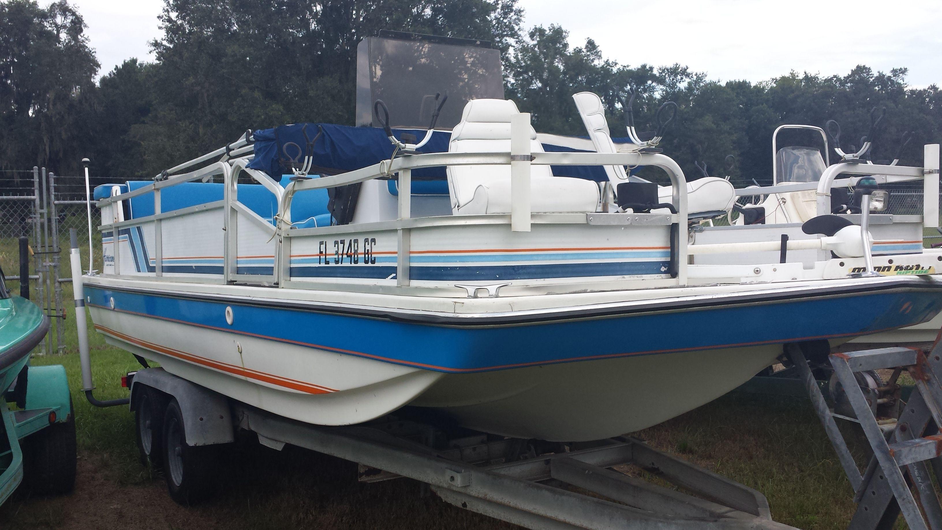 1990 Hurricane Deck Boat 2 995 Call Polaris Of Gainesville At 386 418 4244 Hurricane Deck Boat Deck Boat Boat