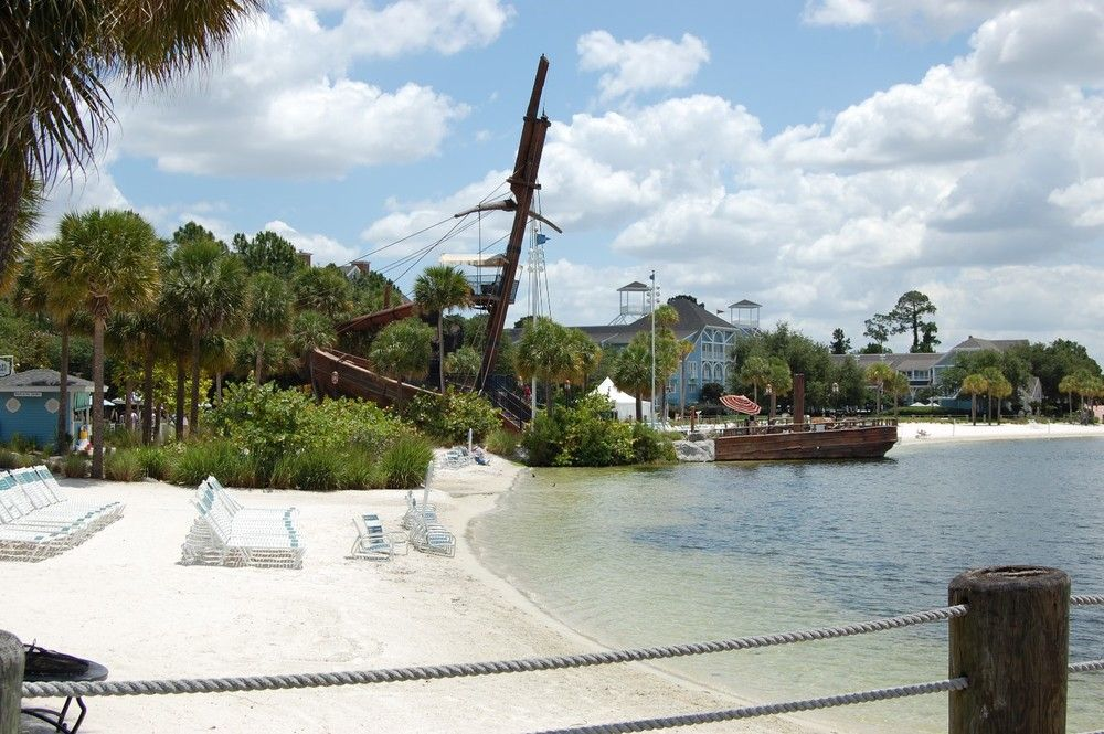 Albatross Pirate Ship And Lakeside Beach Area At Disney S Yacht Club Resorts